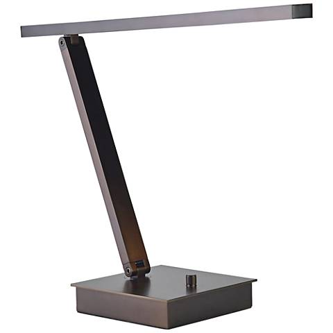 TaskWerx Bronze Adjustable Linear LED Task Desk Lamp