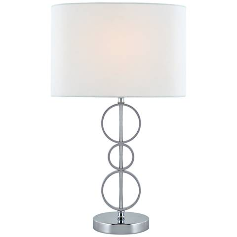 Lite Source Odele Chrome Stacked 3-Ring Table Lamp