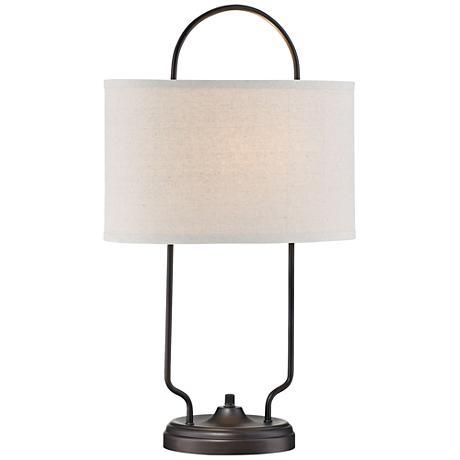 lite source baldwin vintage bronze linear table lamp. Black Bedroom Furniture Sets. Home Design Ideas