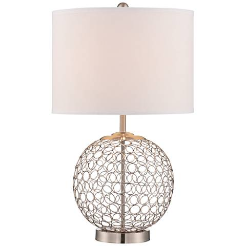 Lite Source Mabon Steel Ring Open Globe Table Lamp
