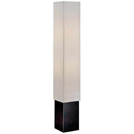 Lite Source Edan Dark Walnut Square Column Floor Lamp