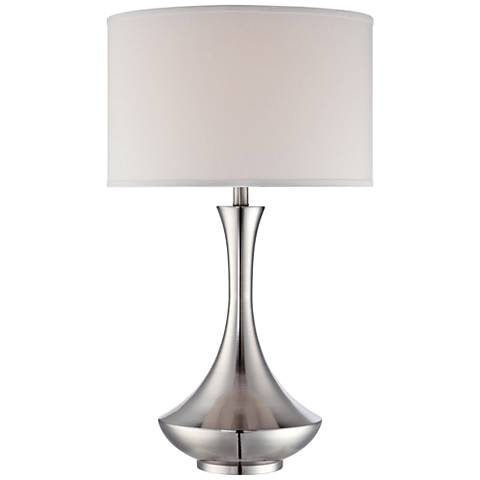 Lite Source Elisio Polished Steel Genie Bottle Table Lamp