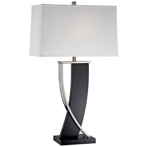 Lite Source Estella Dark Walnut Two-Tone Table Lamp
