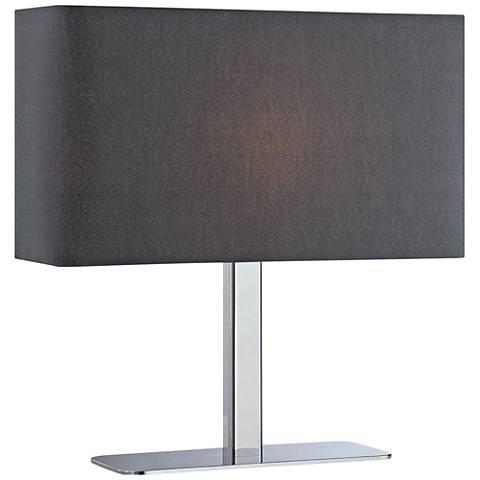 Lite Source Levon Black Shade Rectangular Accent Table Lamp