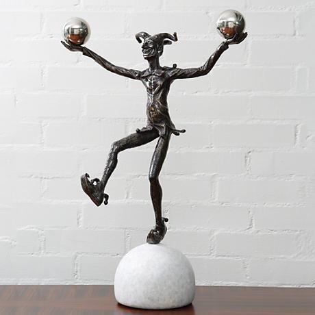 "Juggling Jester 22 1/2"" High Bronze Figurative Sculpture"