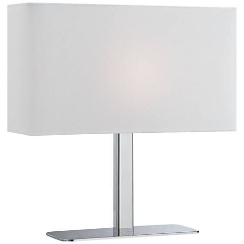 "Lite Source Levon White Shade 15"" High Accent Table Lamp"