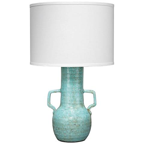 Jamie Young Madre Blue Ceramic Table Lamp