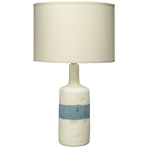 Jamie Young Adobe Blue and White Ceramic Table Lamp