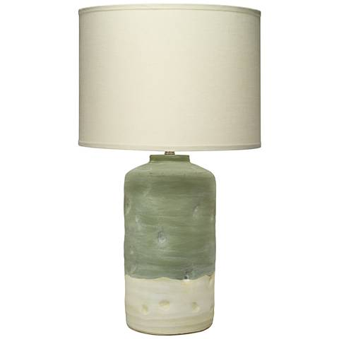 Jamie Young Mohave Pistachio Green and White Table Lamp
