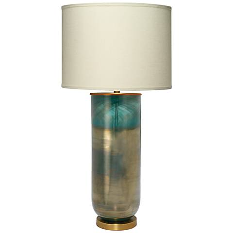 Jamie Young Vapor Large Aqua Blue Ombre Table Lamp