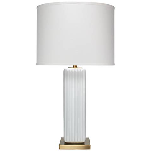 Jamie Young Monty White Glass Table Lamp