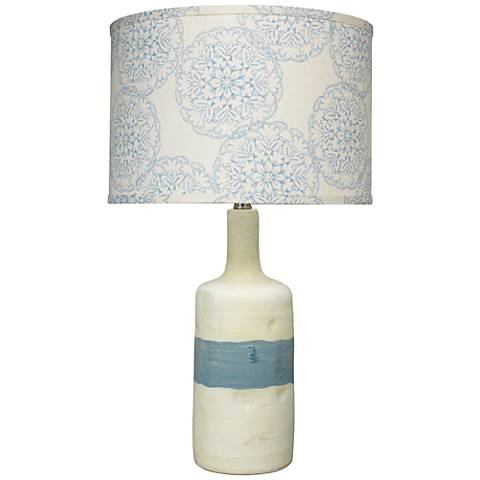 Jamie Young Sedona Blue and White Ceramic Table Lamp