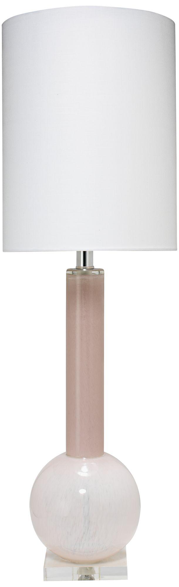 Jamie Young Studio Petal Pink Glass Table Lamp