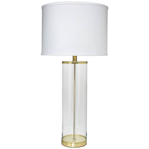 jamie young rockefeller brass glass table lamp 1n919. Black Bedroom Furniture Sets. Home Design Ideas