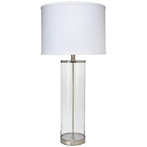 Jamie Young Rockefeller Nickel Glass Table Lamp