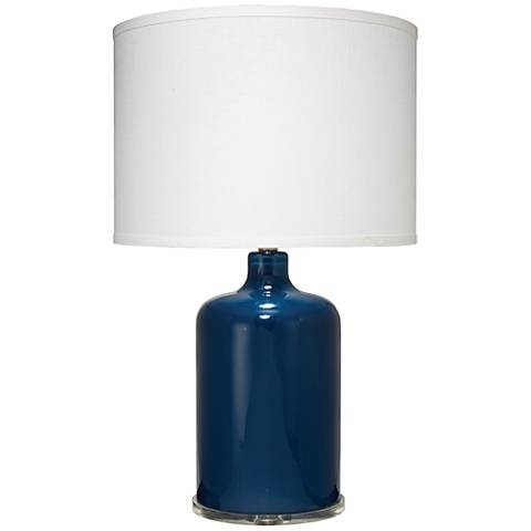 Jamie Young Napa Navy Blue Glass Table Lamp