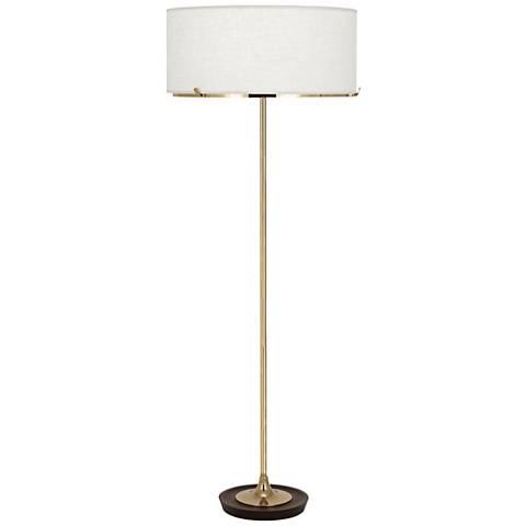 Robert Abbey Edwin Polished Brass Floor Lamp