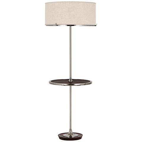 Robert Abbey Edwin Polished Nickel Tray Table Floor Lamp