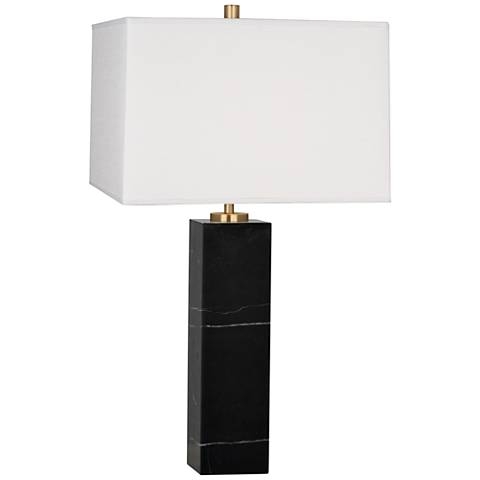 Jonathan Adler Canaan Marble and White Shade Large Table Lamp