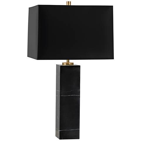 Jonathan Adler Canaan Marble and Black Shade Large Table Lamp