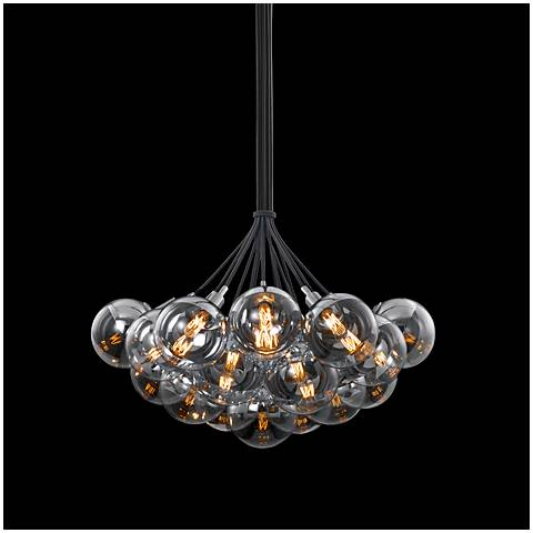 "Orb Cluster 26"" Wide Polished Chrome Multi Light Pendant"
