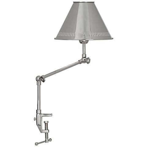 Jonathan Adler St. Germain Nickel Adjustable Clamp Desk Lamp