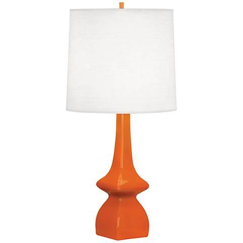 Robert Abbey Jasmine Pumpkin Ceramic Table Lamp