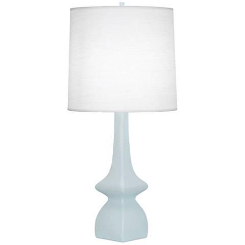 Robert Abbey Jasmine Baby Blue Ceramic Table Lamp