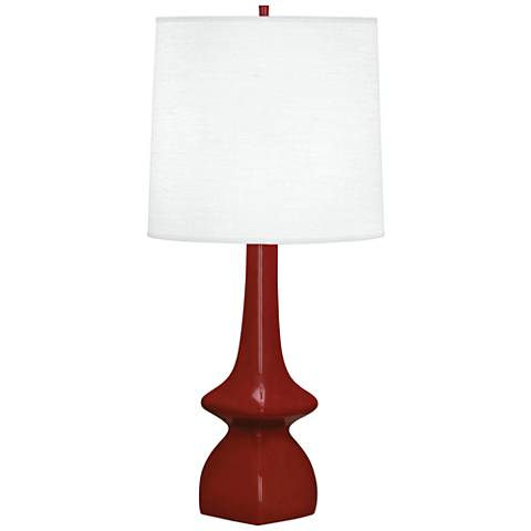 Robert Abbey Jasmine Oxblood Ceramic Table Lamp