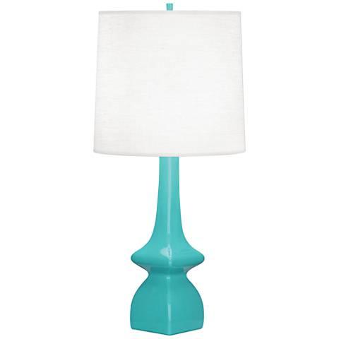 Robert Abbey Jasmine Egg Blue Ceramic Table Lamp