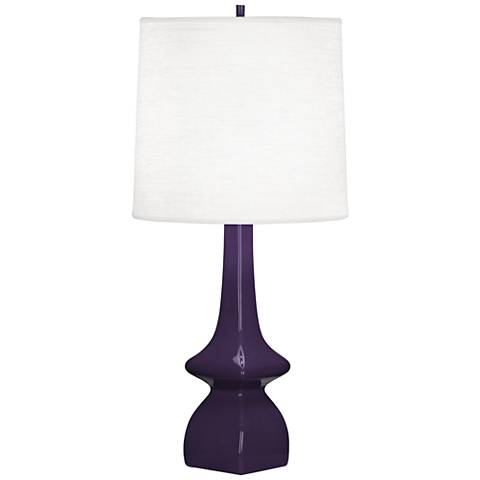 Robert Abbey Jasmine Amethyst Ceramic Table Lamp