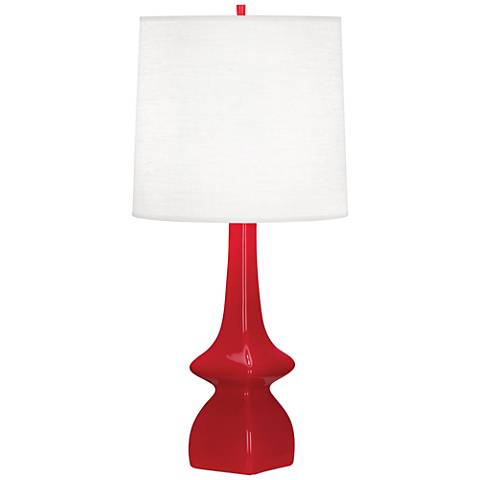 Robert Abbey Jasmine Ruby Red Ceramic Table Lamp