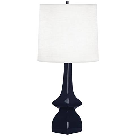 Robert Abbey Jasmine Midnight Blue Ceramic Table Lamp