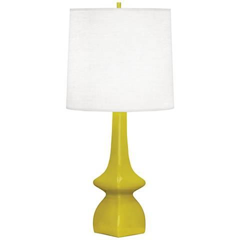 Robert Abbey Jasmine Citron Ceramic Table Lamp