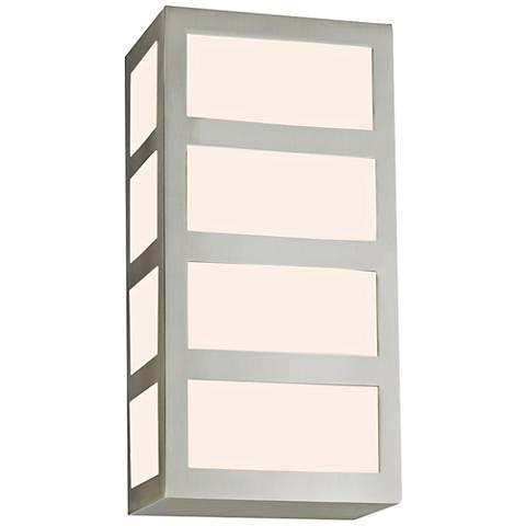 "Sonneman Capital 10 1/4"" High Satin Nickel LED Wall Sconce"