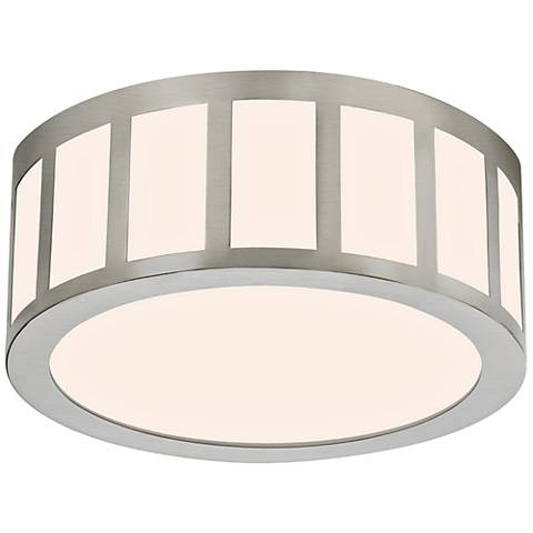 "Sonneman Capital 12""W Satin Nickel Round LED Ceiling Light"