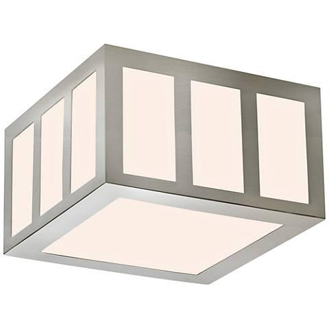 "Sonneman Capital 8""W Satin Nickel LED Ceiling Light"