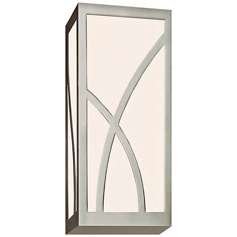 "Sonneman Haiku 12"" High Satin Nickel LED Wall Sconce"