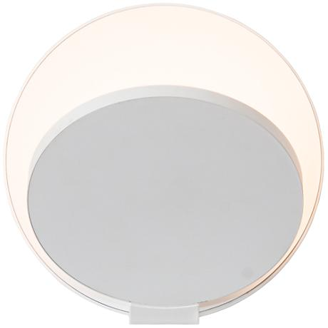"Koncept Gravy 5"" High Matte White Plug-In LED Wall Sconce"