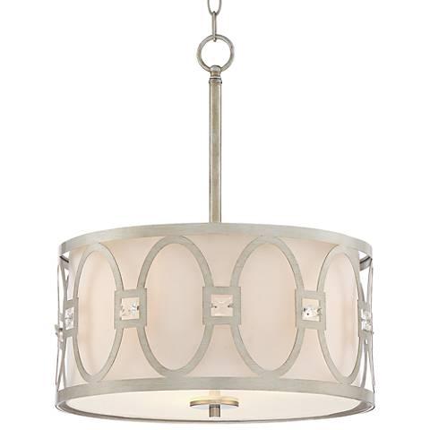 "Tamblyn 16"" Wide Antique Silver Pendant Light"