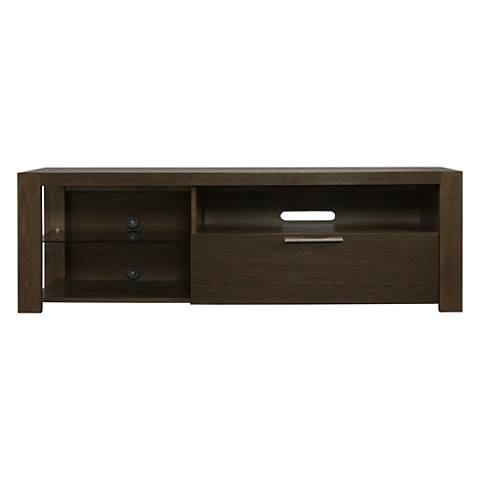 Hudson Deep Licorice Wood 1-Drawer Television Stand