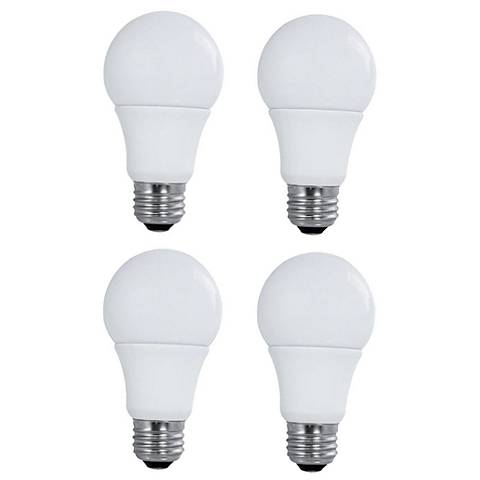 60W Equivalent Satco 9W LED Non-Dimmable Standard 4-Pack