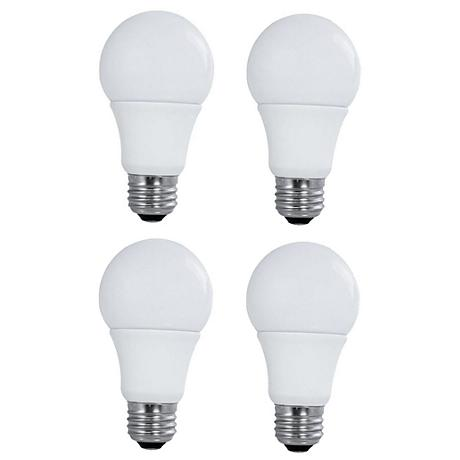 Satco Frosted A19 Non-Dimmable 2700K 9W LED Bulb 4-Pack