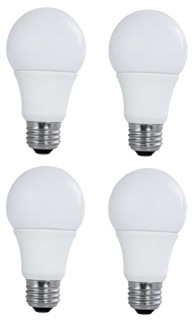 60W Equivalent Satco 9W LED Non-Dimmable Standard 4-Pack  sc 1 st  L&s Plus & View On Sale Items Light Bulbs - Tesler | Lamps Plus azcodes.com