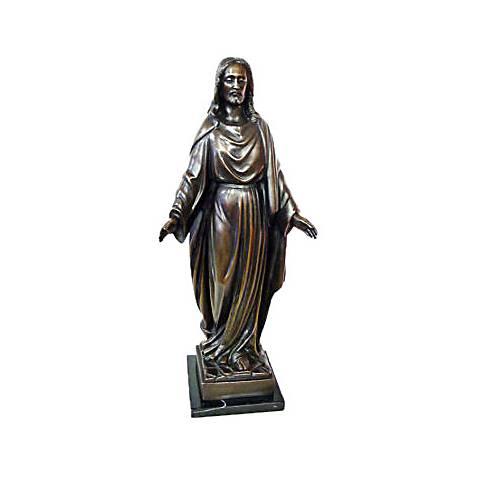 """Henri Studio Jesus Rising 16""""H Bronze Religious Statue"""
