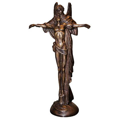"Henri Studio Jesus' Angel 16""H Bronze Religious Statue"