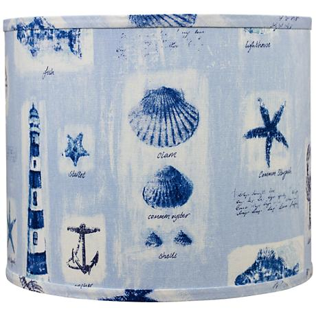 Blue Beachcomber Surf Drum Shade 14x14x11 (Spider)