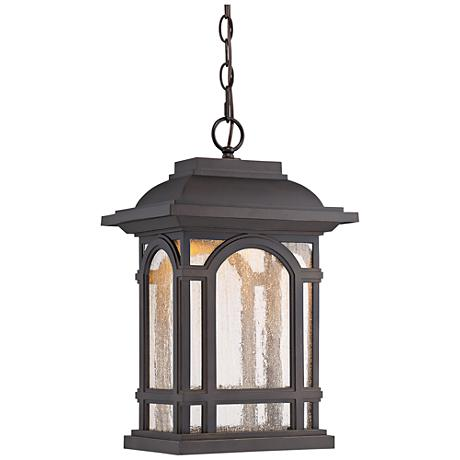 """Cathedral 18 1/4""""H Bronze LED Outdoor Hanging Light"""