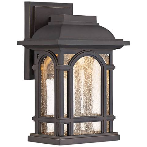 """Cathedral 11"""" High Palladian Bronze LED Outdoor Wall Light"""