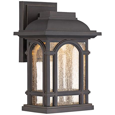 "Cathedral 11"" High Palladian Bronze LED Outdoor Wall Light"